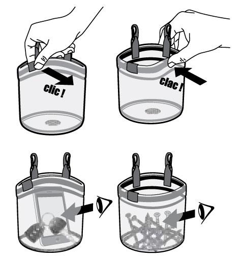Glass Bucket Clic Clac