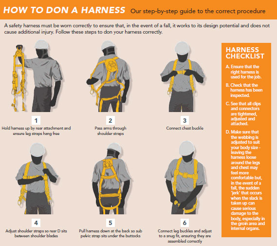 How to put on a harness