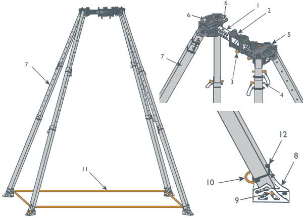 Obelisk Quad Pod Diagram