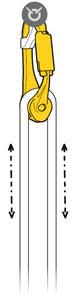 Petzl Rollclip Pulley Karabiner Diagram